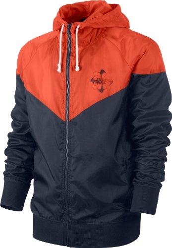 Nike Herren Jacke RU Vintage Windrunner, Obsidian/Team orange, M, 485029