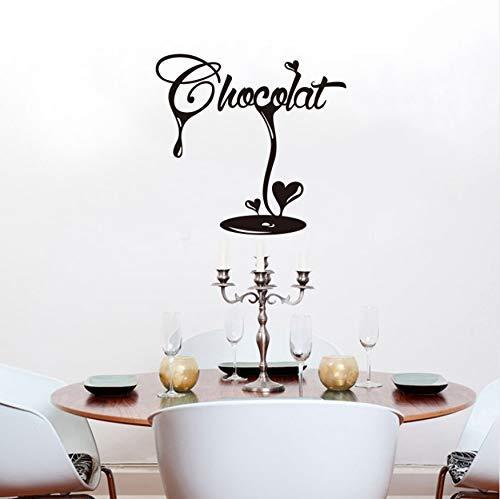 Sticker Frans Latte Chocolade Fudge Vinyl Muursticker Muurschildering Muurschildering Keuken Decor Huisdecoratie 55x55cm
