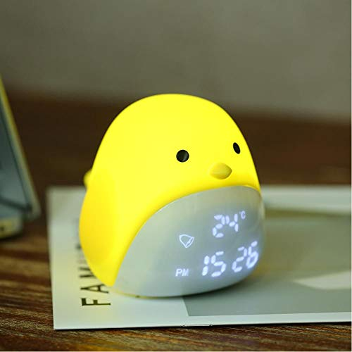 Usb Nachtlamp Leuke Chick Digitale Wekker Met Drie Niveaus Voor Kinderen Slaapkamer Woonkamer Aanraakbediening Nachtlampje