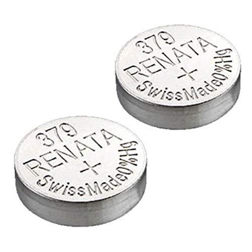 2x Renata 379SR521SW 1,55V Uhr Silberoxid Batterie