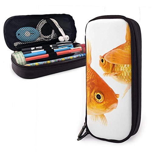 HHELI Cute Goldfish Pencil Case,Large Capacity Pencil Bag with Durable Zipper Students Stationery Pen Bag for Pens and Other School Supplies