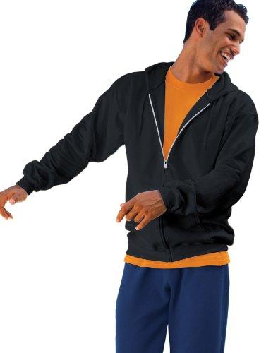 Hanes Men's Full Zip Ultimate Heavyweight Hoodie, Black, X-Large