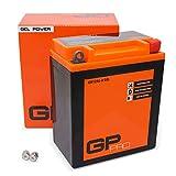 GP-PRO GB12AL-A 12V 12Ah GEL Batterie de démarrage (compatible avec YB12AL-A / YB12AL-A2) (Sans entretien/Scellé) Moto Accumulateur