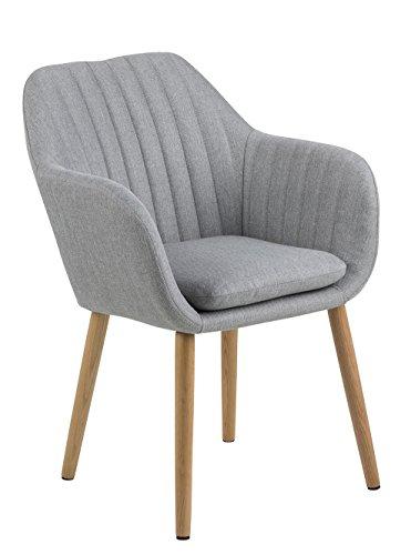 AC Design Furniture Wendy stoel Quilten in de lengte. B: 57 x T:61 x H: 83 cm lichtgrijs