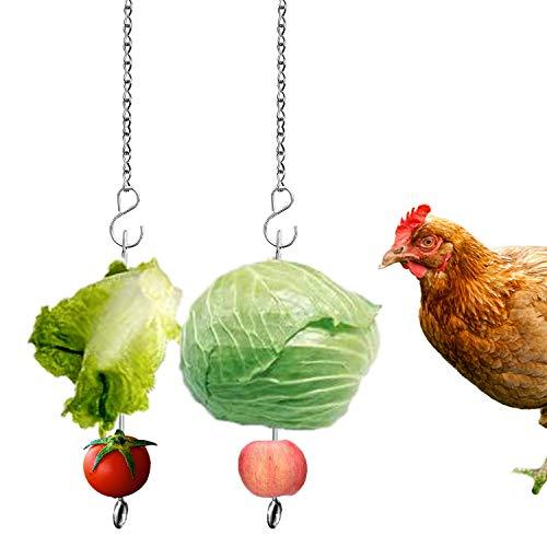 Chicken Vegetable Hanging Feeder Toy for Hens Pet Chicken Veggies Skewer Fruit Holder for Hens Large Bird