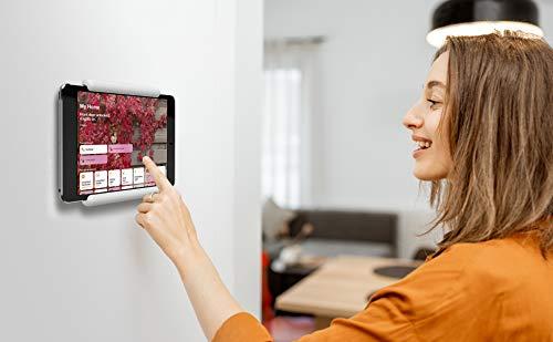 elago Home Hub Mount Tablet Wandhalterung Kompatibel mit Apple iPad, iPad Air/Pro, Samsung Galaxy Tab, meisten Tablets – Einfaches Montieren, Kratzfestes Silikon, Kabelmanagement Inclusive (Weiß)