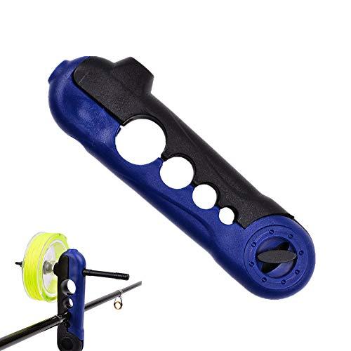 XIZHI Mini Line Spooler-Portable Universal Fishing Line Spooler Fishing Line Spooler Spooling Station System Adjustable for Varying Spool Sizes, Blue