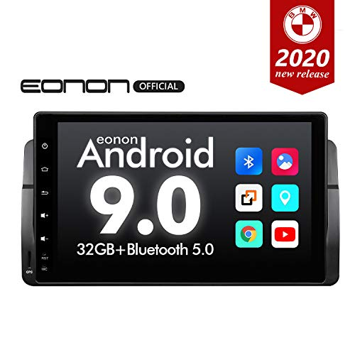 Car Stereo Android Head Unit,Eonon 9 Inch Android 9.0 Car Radio,Car Stereo Applicable to BMW 3 Series with Navigation Support Carplay/Android Auto/WiFi/Fast Boot/DVR/Backup Camera-GA9350B