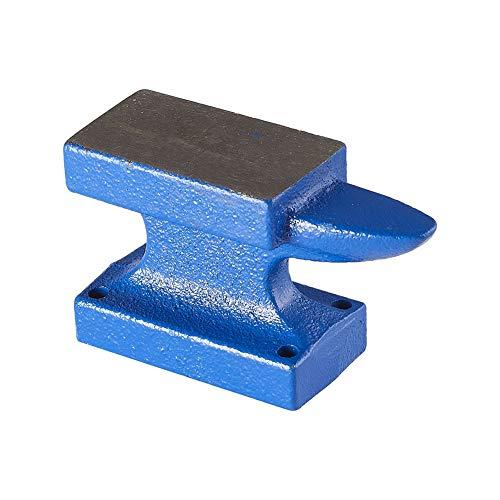 PandaHall 1 Pack Bloque de Banco de Yunque de Cuerno de Hierro para Hacer Joyas Azul