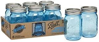 Ball 瓶(メイソンジャー)16oz/ブルー6個セット(レギュラー蓋)