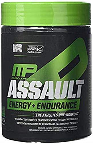 MusclePharm Energia D'assalto + Supplemento di Resistenza, Lampone Blu - 340 g