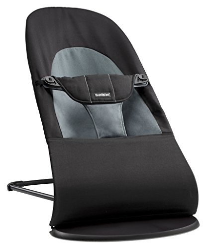 BABYBJÖRN Bouncer Balance Soft, Cotton, Black/Dark Grey