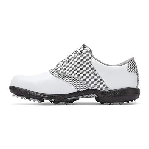Footjoy Damen DryJoys Golfschuhe, Weiß (Blanco/Negro/Blanco 99019m), 42 EU