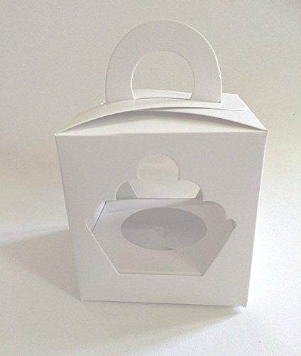 25 stuks cupcake muffin single box 1er opbergdoos geschenkdoos doos doos verpakking incl. inleg