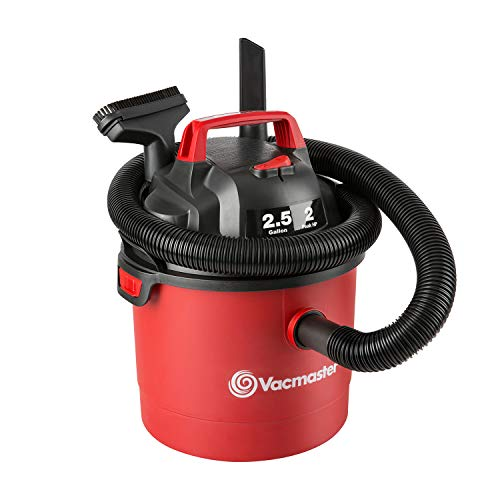 Vacmaster Red Edition VOM205P 1101 Portable Wet Dry Shop Vacuum 2.5 Gallon 2 Peak HP 1-1/4 inch Hose