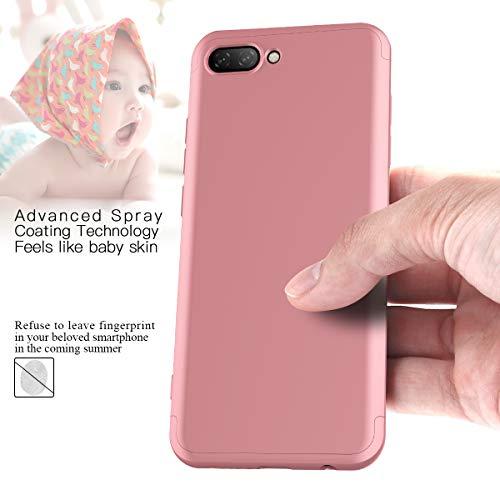 CE-Link Huawei Honor 10 Hülle Hardcase 3 in 1 Handyhülle 360 Grad Hard Hartschale Grad Full Body Case Cover Schutzhülle Bumper - Rose Gold - 3