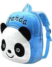 Panda Zainetti per Bambini, PTN Simpatico Cartone Animato Borsa da Scuola per Bambini, Panda Blu Stereo 3D Borsa da Scuola per Bambini, Regali Zaino Piccolo per Bambini 1-7 Anni
