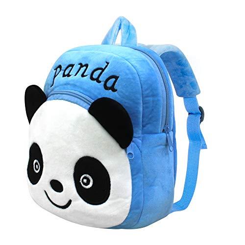 Panda Toddler Kids Backpack, PTN Cute Cartoon Children's School Bag, 3D Stereo Blue Panda Toddler Kids School Bag, Present & Gifts Little Rucksack for Kids Toddler 1-7 Years