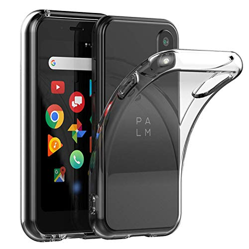 Voviqi Cover Palm Phone, Cover Palm Phone Silicone Case Molle di TPU Trasparente Sottile Custodia per Palm Phone – Trasparente