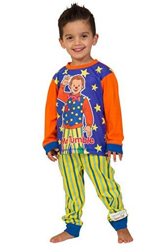 ThePyjamaFactory Something Special MR Tumble CBEEBIES Kinder Schlafanzug Schlafanzug, 1 bis 5 Jahre Gr. 86, blau