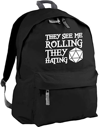 HippoWarehouse They See Me Rolling They Hating Backpack ruck Sack Dimensions: 31 x 42 x 21 cm Capacity: 18 litres