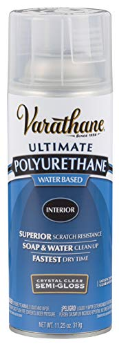 Rust-Oleum 200181 Polyurethane Water-Based Spray, Semi-Gloss Finish, 11 Ounce