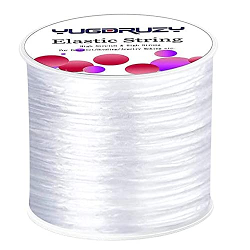 Elastic Bracelet String Cord 0.8mm Jewelry Cord Elastic Bracelet Rope for DIY Jewelry Making Bracelet Making (393ft)