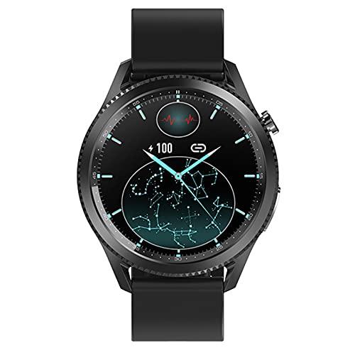 APCHY Smartwatch Reloj Inteligente Hombres,Rastreadores De Fitness con ECG Temperatura Corporal Tasa De Corazón Monitor De Sueño, Pedómetro Distancia,Negro