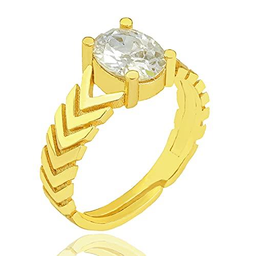Wonderful Baguette Gemstone Anillo chapado en oro   Accesorio para mujer  ...