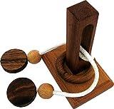 LOGOPLAY Tong Tang - Schnurpuzzle - Denkspiel - Knobelspiel - Geduldspiel - Logikspiel aus Holz