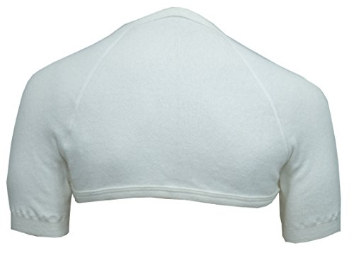Schulterwärmer mit hohem Nacken aus 70% Angora von wobera (Gr. XXL, Farbe: naturweiß)