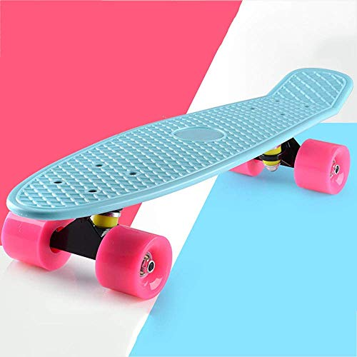 Dljyy Mini Cruiser Skateboard, umweltfreundlicher PP Polypropylen Material, AEBC-7 Chromstahllager und PU-Wear-Resistant Rad Geschenk for alle Altersgruppen