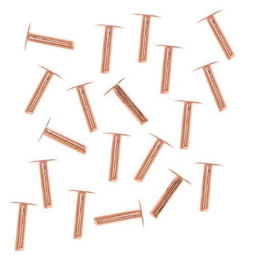 Beadaholique Copper 1/4 Inch Nail Head Rivets 1.3mm Diameter (20)
