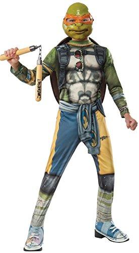 Rubie's Costume Kids Teenage Mutant Ninja Turtles 2 Value Michelangelo Costume, Medium