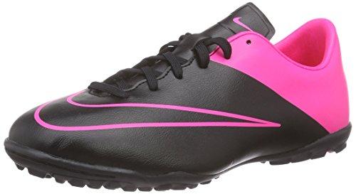 Nike Junior Mercurial Victory V TF, Scarpe da Calcio Unisex – Bambini, Nero (Schwarz (Black/Black-Hypr Pink-Hypr Pnk), 33,5