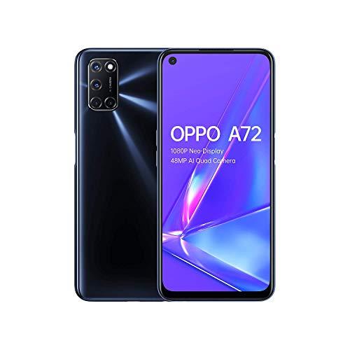 OPPO A72 - 4GB + 128GB Snapdragon 665 6.5 inch 5000mAh Dual-Sim 48MP Camera Sim Free Android 10 Smartphone- Twilight Black