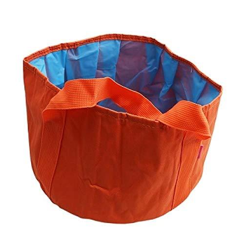 Alberta Wassereimer Startseite Werkzeug Faltbare bewegliche im Freien Spielraum Faltbare Falte Camping Waschbecken Wasch Ausguss Washing Bag-Blau (Color : Orange)