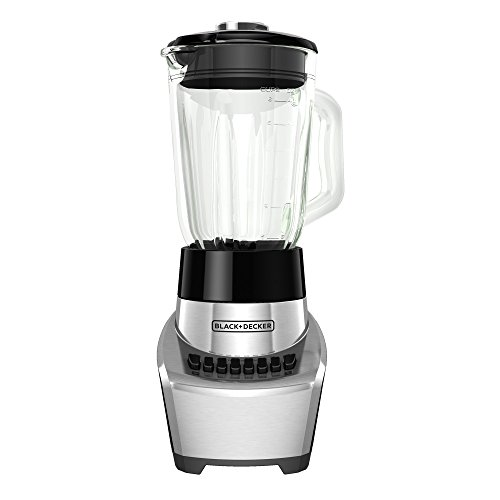 BLACK+DECKER FusionBlade Blender with 6-Cup Glass Jar, 12-Speed Settings, Silver, BL1111SG