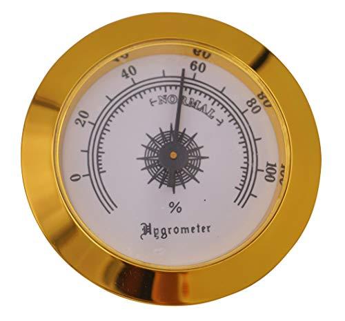 GERMANUS Hygrometer als Ersatz für Humidor 35 mm, Gold