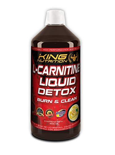 L-CARNITINE LIQUID DETOX 1litro Limon King Nutriton carnitina liquida quemagrasas con L-METIONINA, COLINA, INOSITOL, detoxifica y depura grasas del higado