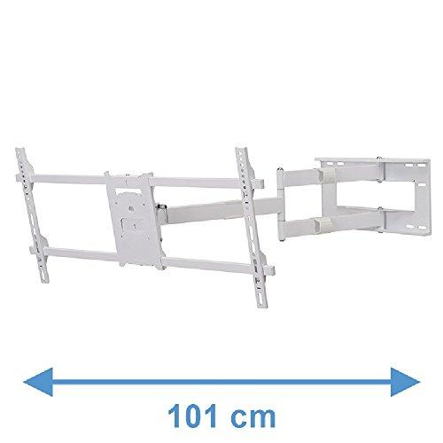 DQ Reach XXL 101 cm TV Wandhalterung Weiss - Empfohlene TV-Größe: 42