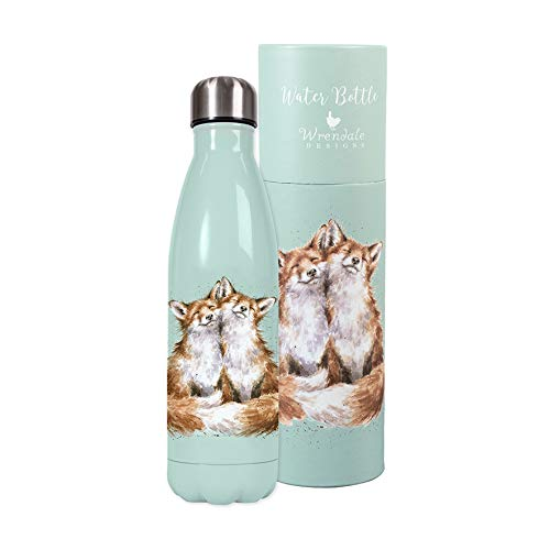 Country Set Water Bottle Foxes