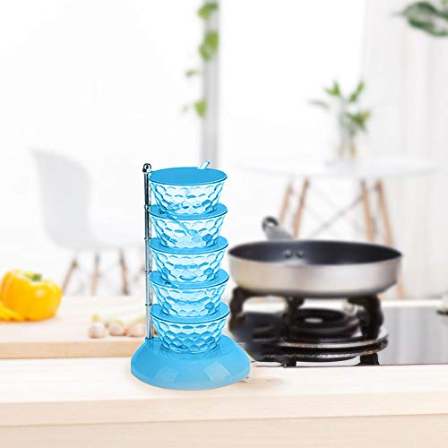 HINK-Home - Utensilios de saborización, cristal europeo, caja de condimento giratoria, creativa, vertical, multicapa, cocina, comedor, bar, grandes ventas, para día de Pascua