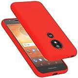Cadorabo Hülle für Motorola Moto E5 Play GO in Liquid ROT - Handyhülle aus flexiblem TPU Silikon - Silikonhülle Schutzhülle Ultra Slim Soft Back Cover Hülle Bumper