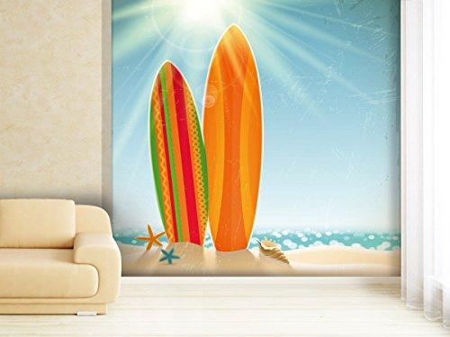 XXL-Tapeten Fototapete Surfer Beach - weitere Größen und Materialien wählbar - DEUTSCHE Profi QUALITÄT von Trendwände