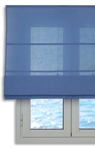 Estor plegable con varillas 90x175cm - Color Azul