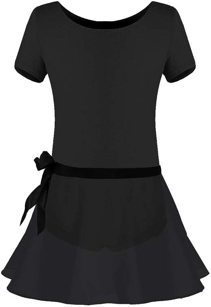 Imixshopcs Girls Kids Gymnastic Ballet Dance Tutu Dress Leotard Long Sleeve Skirt Princess Costume