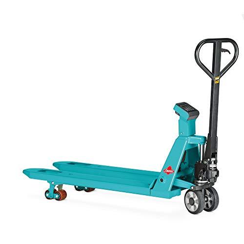 Wiege-Hubwagen Ameise, Tragkraft 2.000 kg, 1 kg-Schritte, Tandemrollen