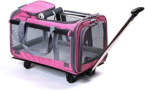 Trolley per Animali Domestici, Trolley per Animali Domestici Trolley per Animali Domestici Borsa per Zaino da Viaggio per Gatti Trolley per Cani da Compagnia e Manico telescopico Borsa da Viaggio per
