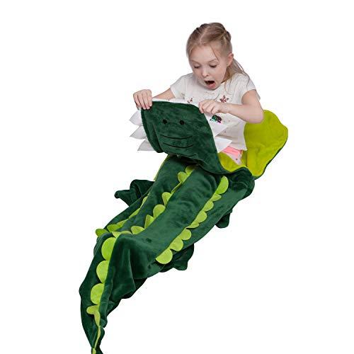 softan Krokodil Schwanz Decke für Kinder, Super Weich und Bequem Alle Jahreszeiten Schlafsack Sofa Wohnzimmer Quilt, Große GeburtstagWeihnachten und Urlaub Geschenke für Junge, 46cm x 162cm